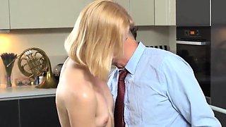 Innocent schoolgirl is seduced and drilled by senior teacher