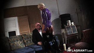 Julie Star is a cute blonde who loves to show of her kinky