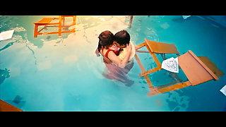 Swastika mukherjee kissing her student in pool