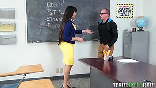 slutty teacher needs some fresh dick