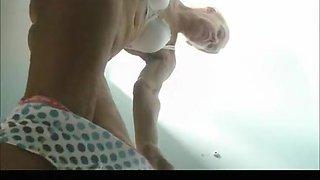 Granny spied in pool cabin