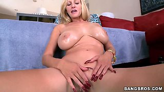 Amazing Holly with several pussy piercings is feeling very horny