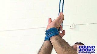 Adam\'s blue-balled uncut cock strains to cum hands-free