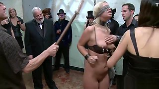 Racy gangbang punishment