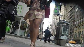 Varios upskirts en Nueva York