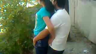 Uzbek young couple outdoor  Khwarezm