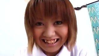 Hot Ran Mikami school girl masturbation!