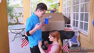 Step mom stuck in kitchen Awesome 4th Of July Threesome
