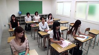 Attractive Japanese schoolgirls confess their love for cock