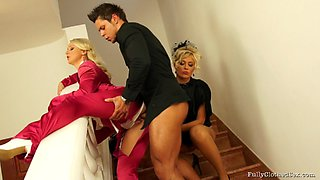 Sit back and enjoy this captivating orgy scene along very salacious chicks