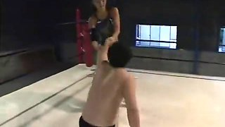 Japanese mixed wrestling domination