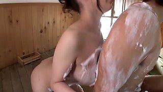 Exotic Japanese slut in Hottest Shower JAV clip