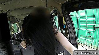 Beautiful emo teen fucking in fake taxi