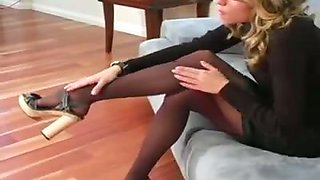 Pantyhose Teaser Will Drain Your Cum