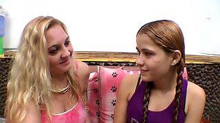 Hot kissing MILF lesbian