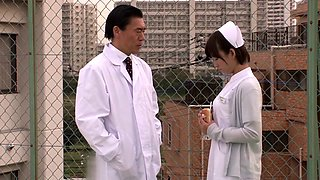 Horny Japanese girl in Fabulous Nurse, Handjob JAV scene