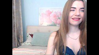 Natural Boobs Innocent Cam Girl Strips P1