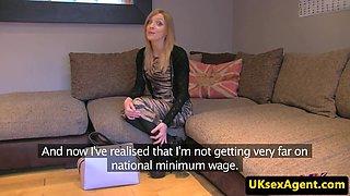 British casting babe cumsprayed on tight ass