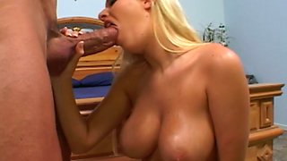 Busty babe Riley is a pleasure machine and she loves giving head
