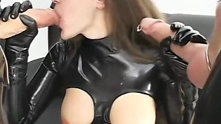 Crazy amateur Latex, Fetish sex movie