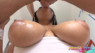 PervCity Big Ass Beauty Swallows Big DIck