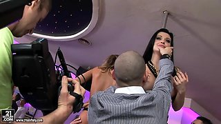 Behind the scenes camera with fantastical Aleska Diamond and Aletta Ocean