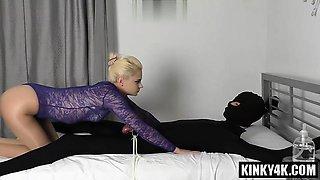Hot mistress bondage and cumshot