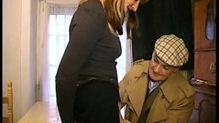 French mature gangbanged and cum covered
