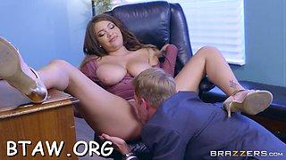 nice lass rides a big pole hard