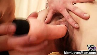 Two mama amateur milfs lesbian first time video