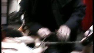 Two slaves in bondage video