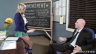 Dorky & Slutty Schoolgirl Sucks Her Teacher