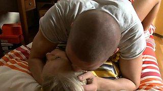 Nude russian blonde Celia gets amorous pounding