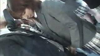 Blowjob in bus in front of onlookers