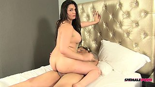 Curvaceous tranny with a major fat ass gets fucked