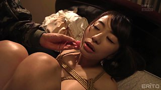 Saki Hatsumi is tied up, bent over and fucked like never before