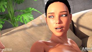 3D Hentai lesbians enjoying futa anal sex