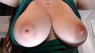 Pov cam of big boobs with pink tits