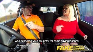 Fake Driving School Busty mature MILF sucks and fucks