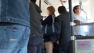 Incredible Japanese whore Yu Namiki in Amazing Bus, Public JAV movie