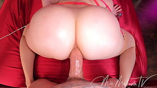 Perfect Ass Blonde Bombshell Mia Assfucked Deeply and Closely in Home
