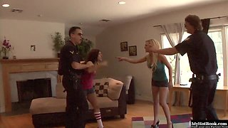 Samantha Sin has always liked being fondled by cops, and her friend Ashli