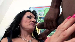 Cuckold wife and hubby meets a black stud at a porn set She