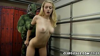 Swamp Monster Vs Hot Girl