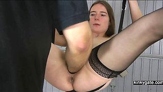 Fisting my slave Gerda deep in her twat