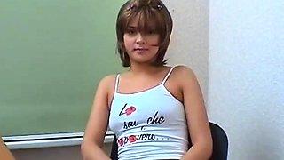 Slutty barely legal russian floozy Tabitha gets body licked