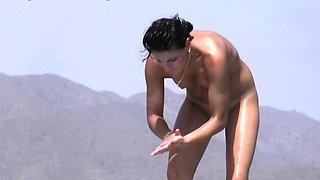 Rousing nude beach voyeur spy cam video