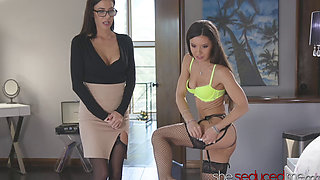 SHESEDUCEDME MILF Gia DiMarco Seduced By Teen Milana Ricci