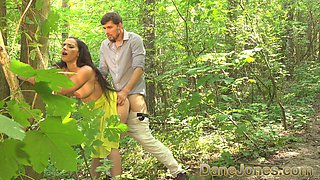 Dane Jones Blowjob and outdoor sex in a summer dress and kitchen quickie