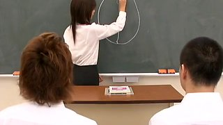 japanese school teacher shave pussy and fuck with students-1